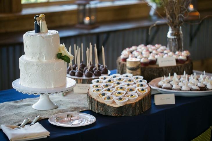 rustico mesa diseño bodas colores