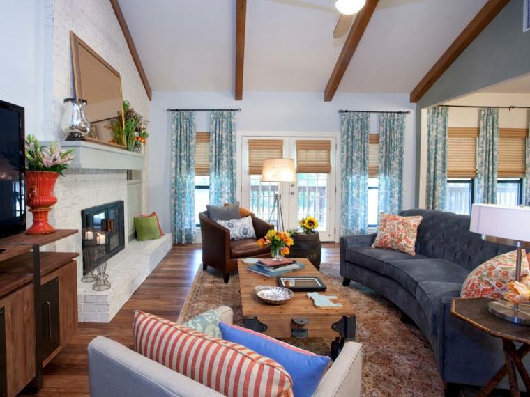 salon decoracion campestre muebles espejos
