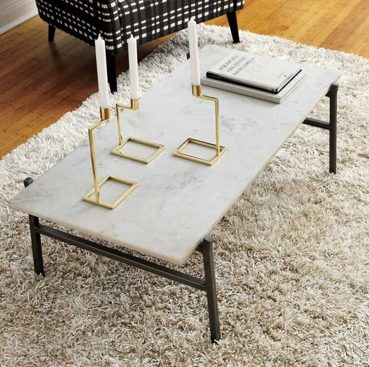 Salones confort y calidez con algunos detalles sencillos - Salones con alfombras ...