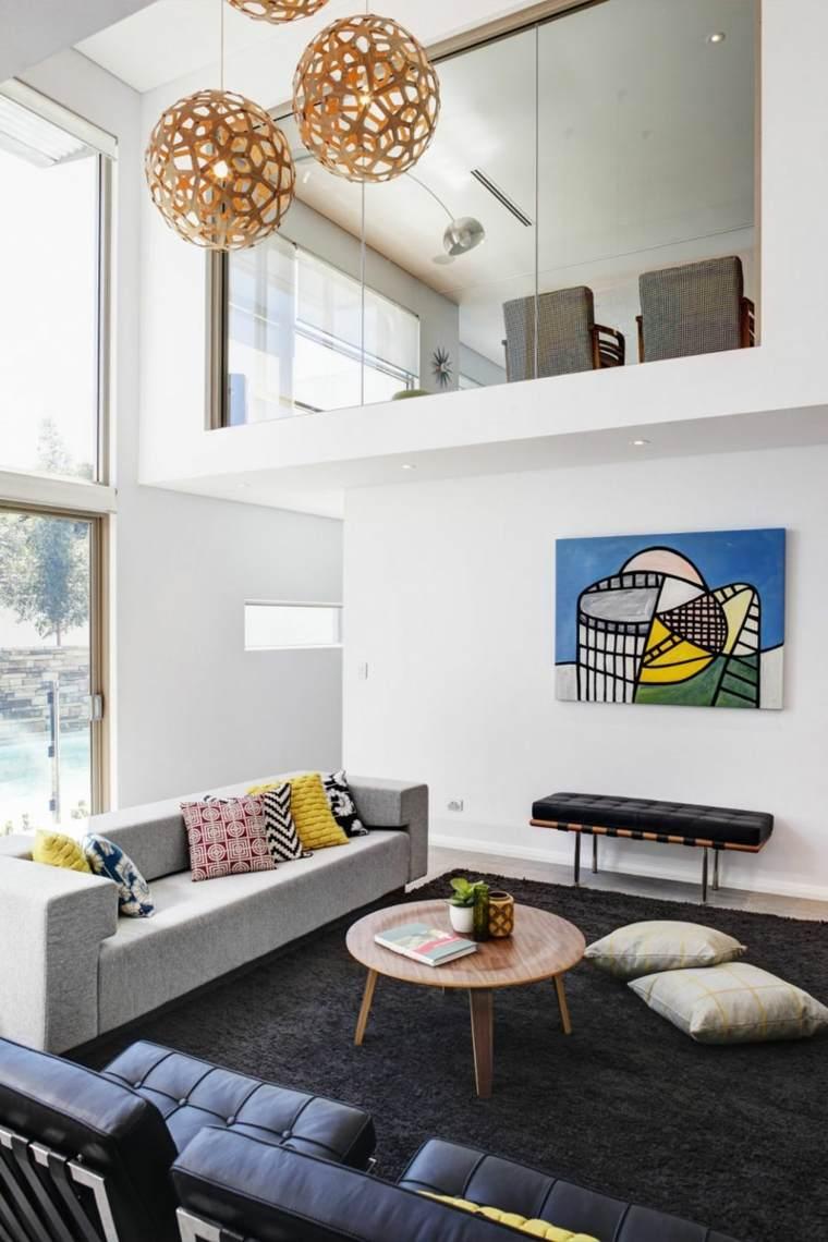 salones confort grises espacios maderas