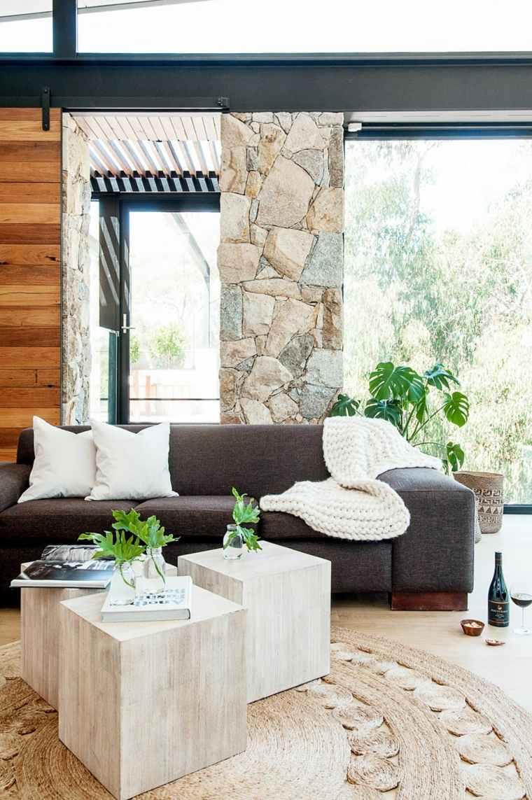 salones confort madera paredes plantas