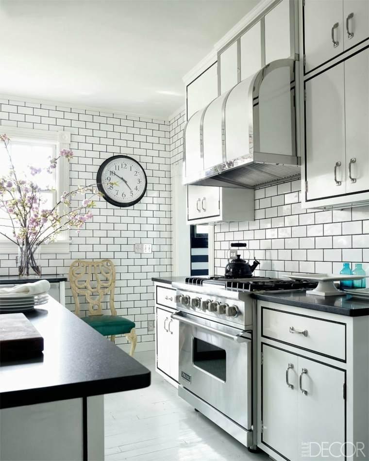 Azulejos blancos de estilo metro en ba os y cocinas - Diseno de cocinas y banos ...