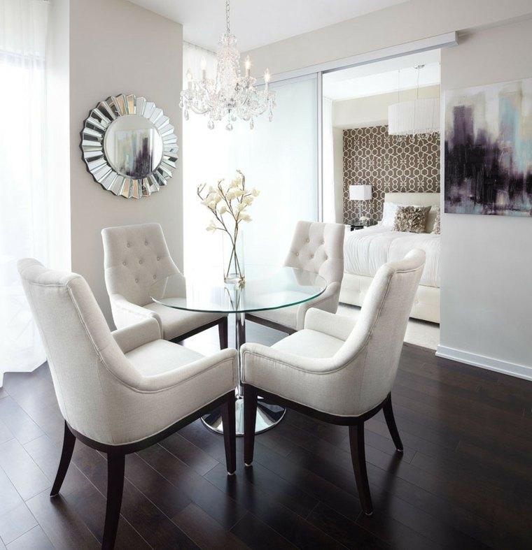 sillas comedor blancas tapizadas acolchadas