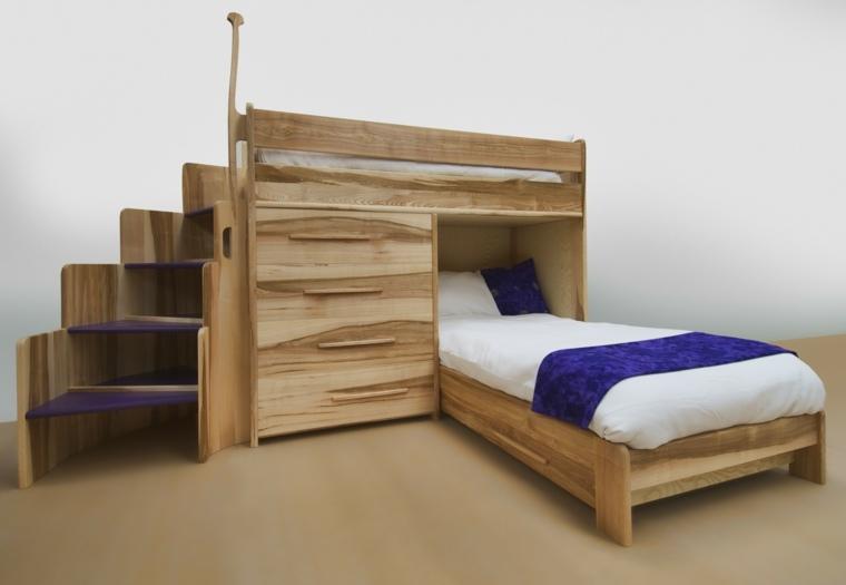 modernos diseos de camas para nios en madera