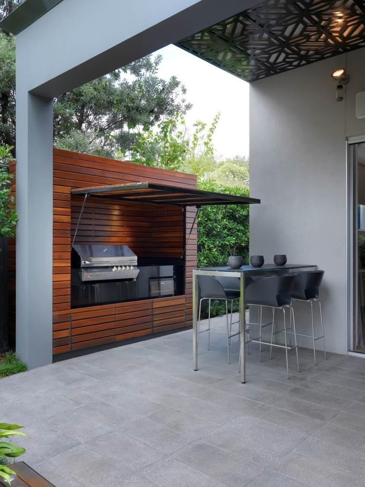 techada cocina exteriores materiales grises
