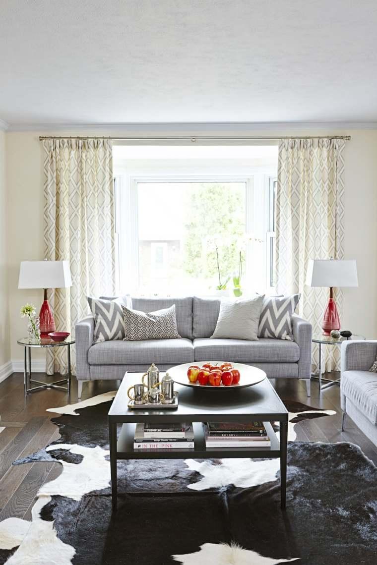 telas para cortinas de salon crema gris frutas