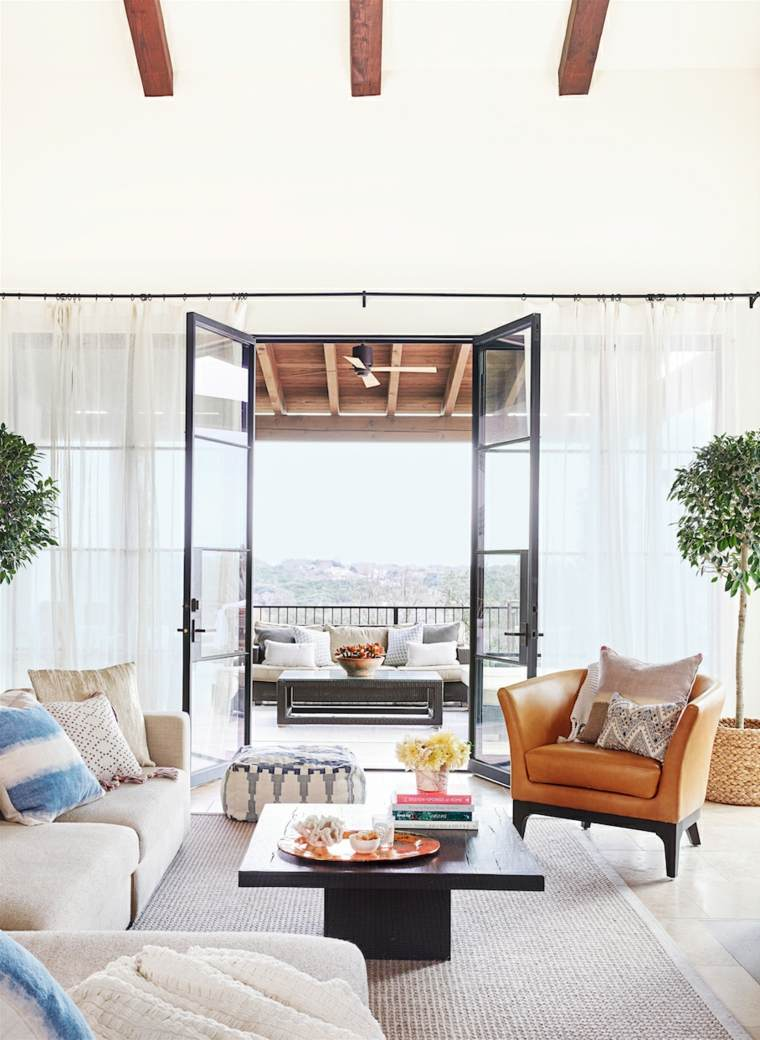 telas para cortinas de salon finas vaporosas plantas