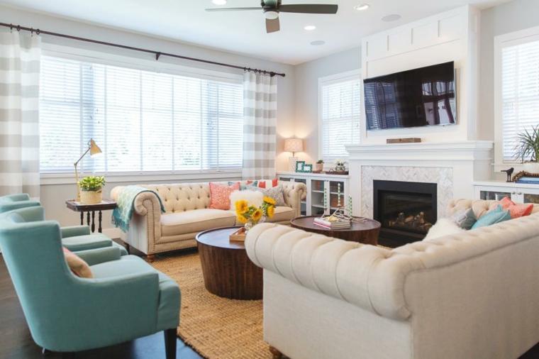 telas para cortinas de salon frescos ambientes ventiladores