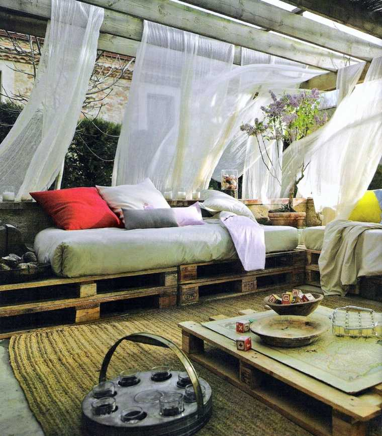 Zona chill out con palets en tu propio jard n o terraza - Terrazas chill out decoracion ...