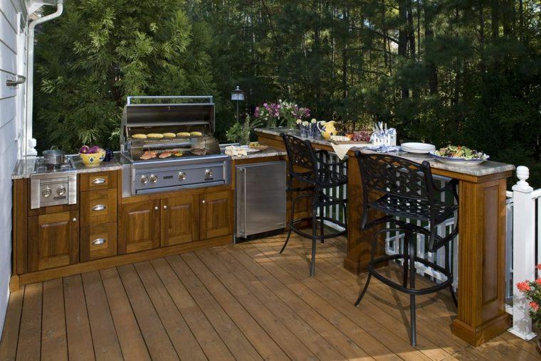 terraza cocina aire libre opciones diseno ideas
