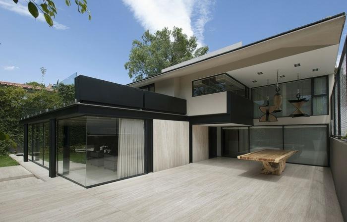 terrazas diseño minimalista acero concreto muebles