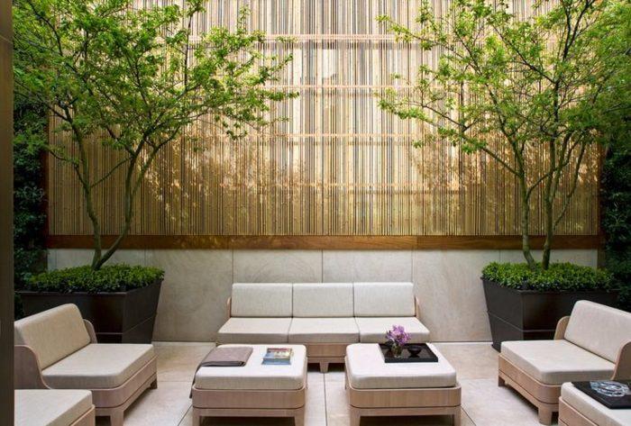 terrazas diseño minimalista bambu decoraciones comodas