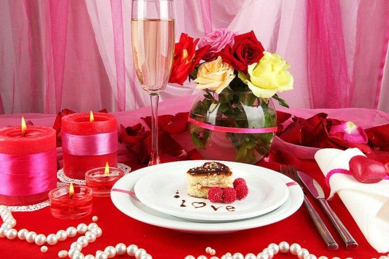 velada romántica en casa