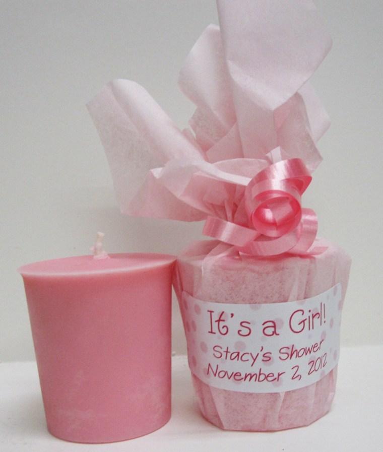 velita color rosa regalo invitados
