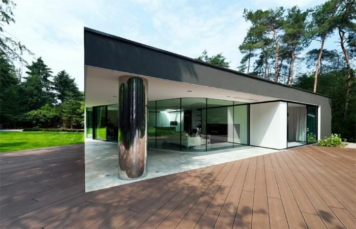 villa minimalista ambientes exteriores cristales