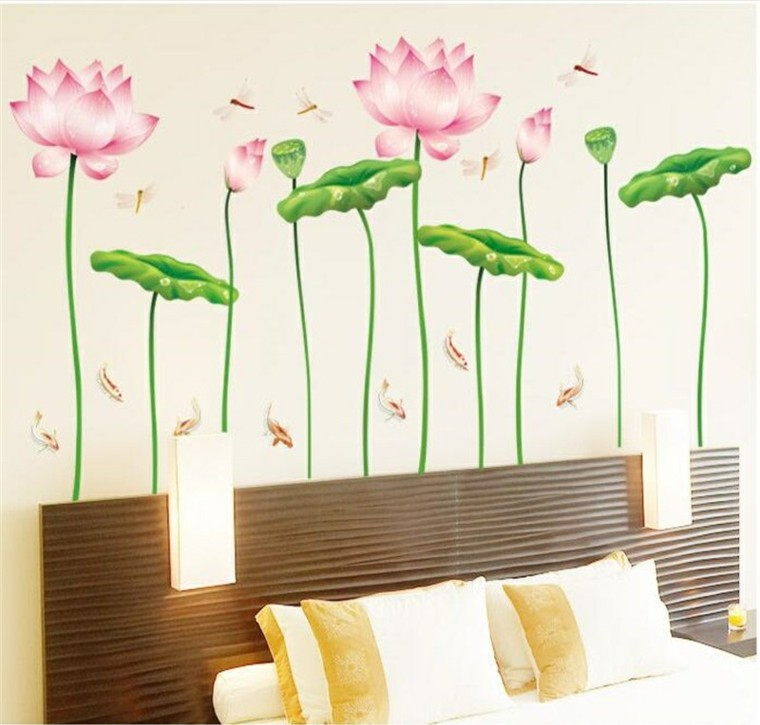 Vinil pared vinil en pared vinilos decorativos floral - Vinilo pared barato ...