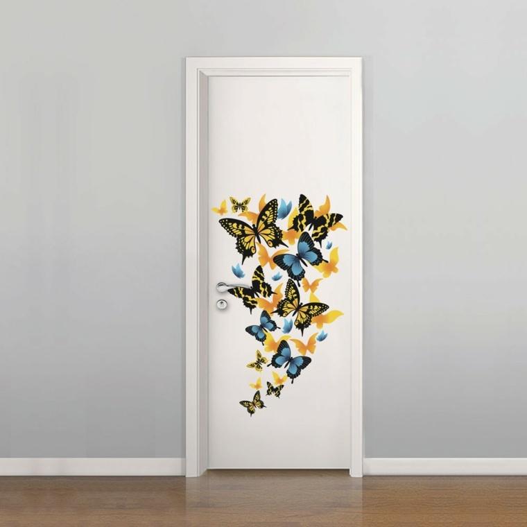 vinilos baratos pared puerta