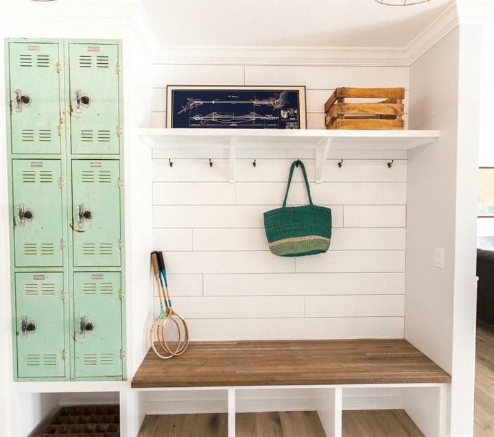 vintage idea verdes cabinetes raquetas