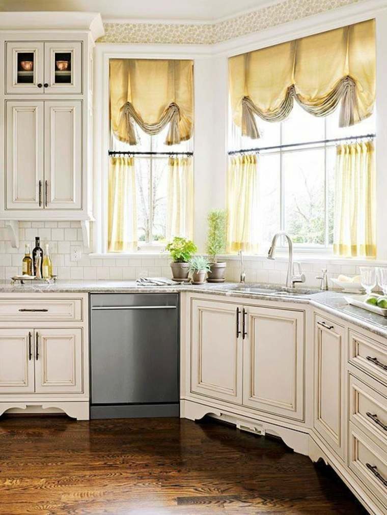 Visillos cocina para decorar los interiores modernos for Cuadros modernos para decorar cocinas