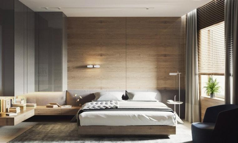 Paredes de madera en el dormitorio para crear un efecto Revestimiento para paredes dormitorios