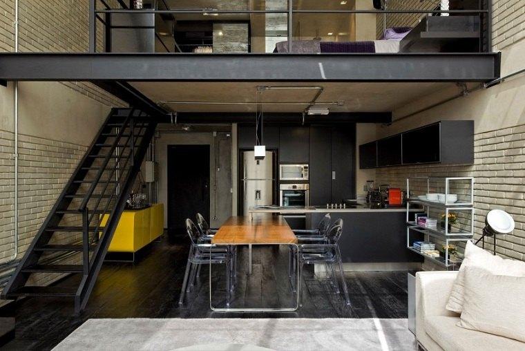 Diseños de cocinas estilo industrial elegante y atractivo