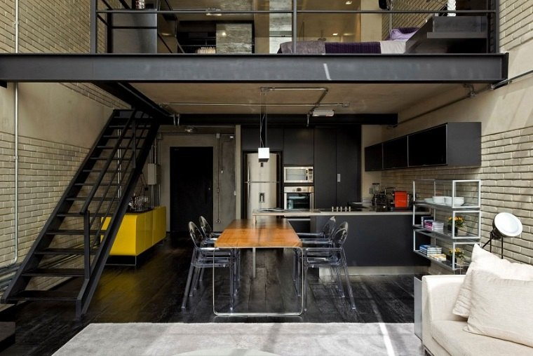 Diego Revollo Arquitetura diseno loft industrial ideas