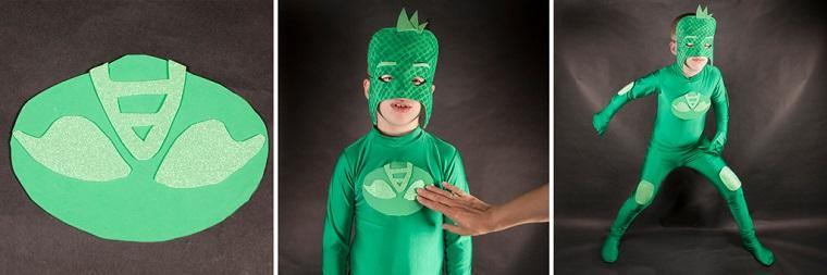 Gekko mascara traje verde disfraces ideas
