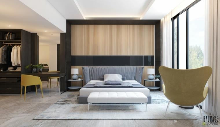 habitación moderna cabecero