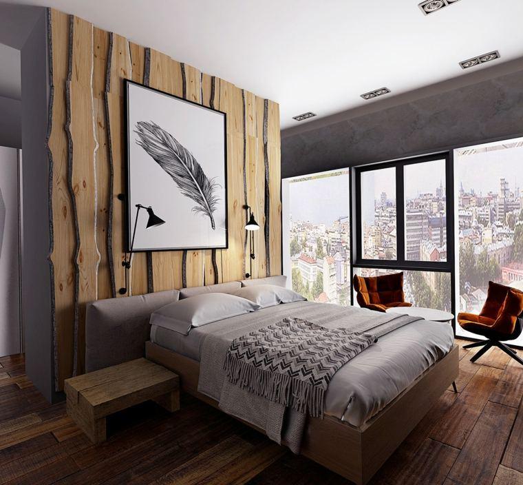 paredes madera acento natural