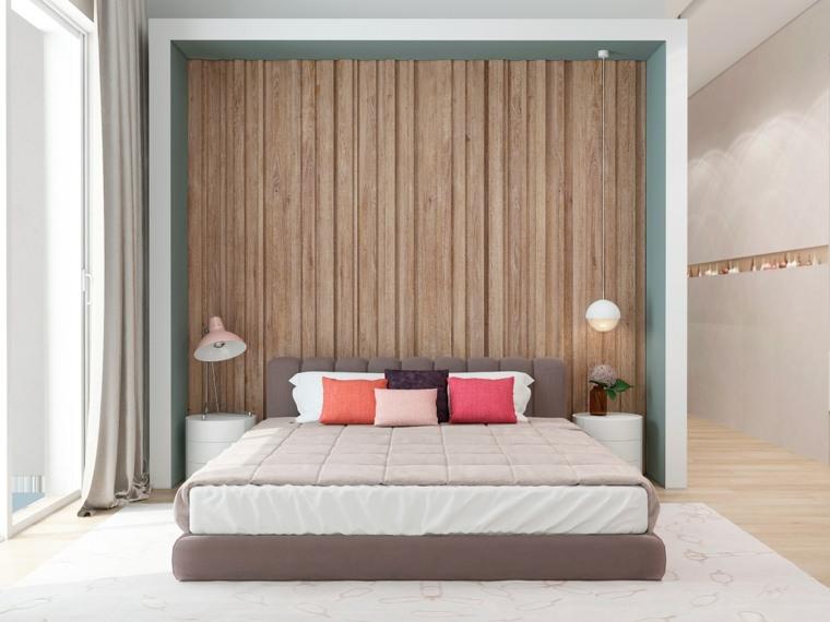 pared fondo cabecero madera