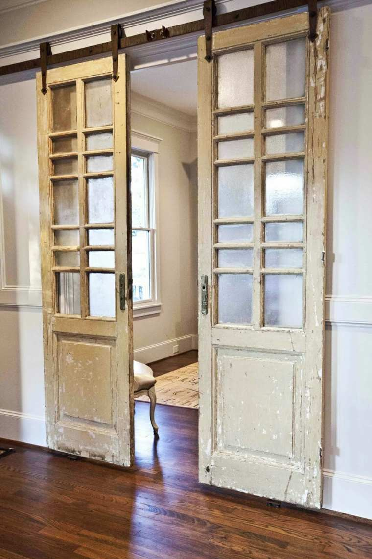 Puertas correderas de madera de estilo granero 42 ideas for Puertas correderas