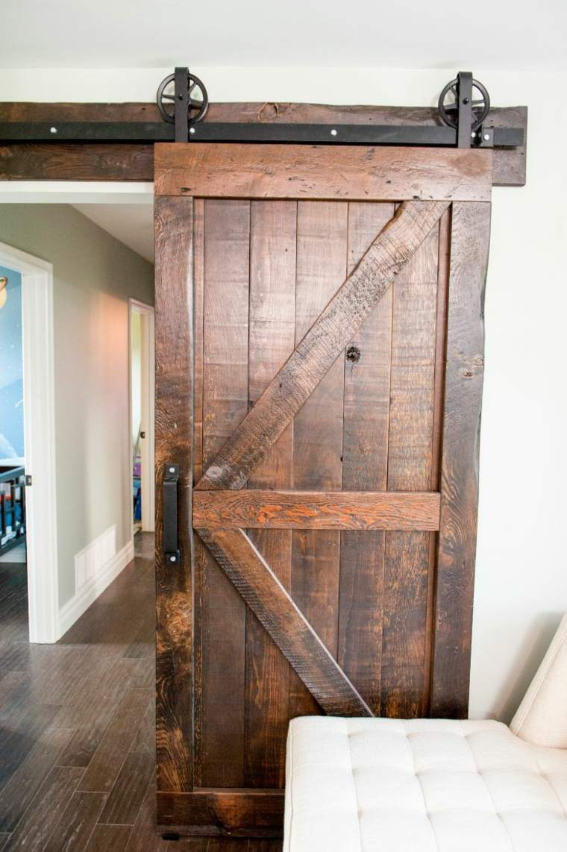 puerta rústica deslizante