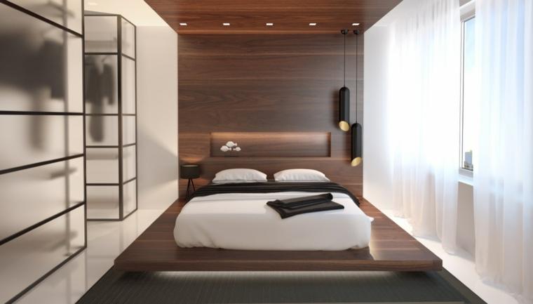 cabecero madera estilo japonés