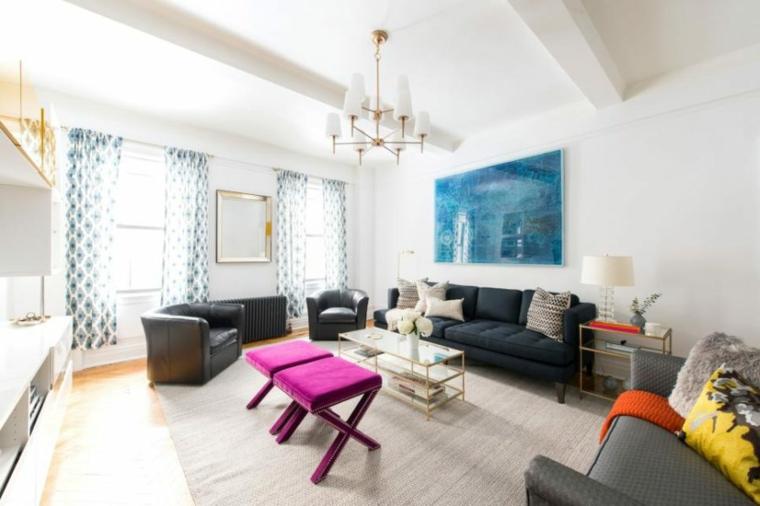acentos colores muebles accesorios salones naranja