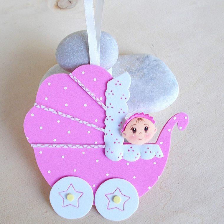 adorno mini carrito bebe