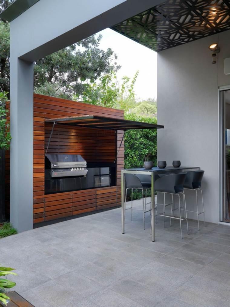 ambientaciones grises muebles especiales maderas