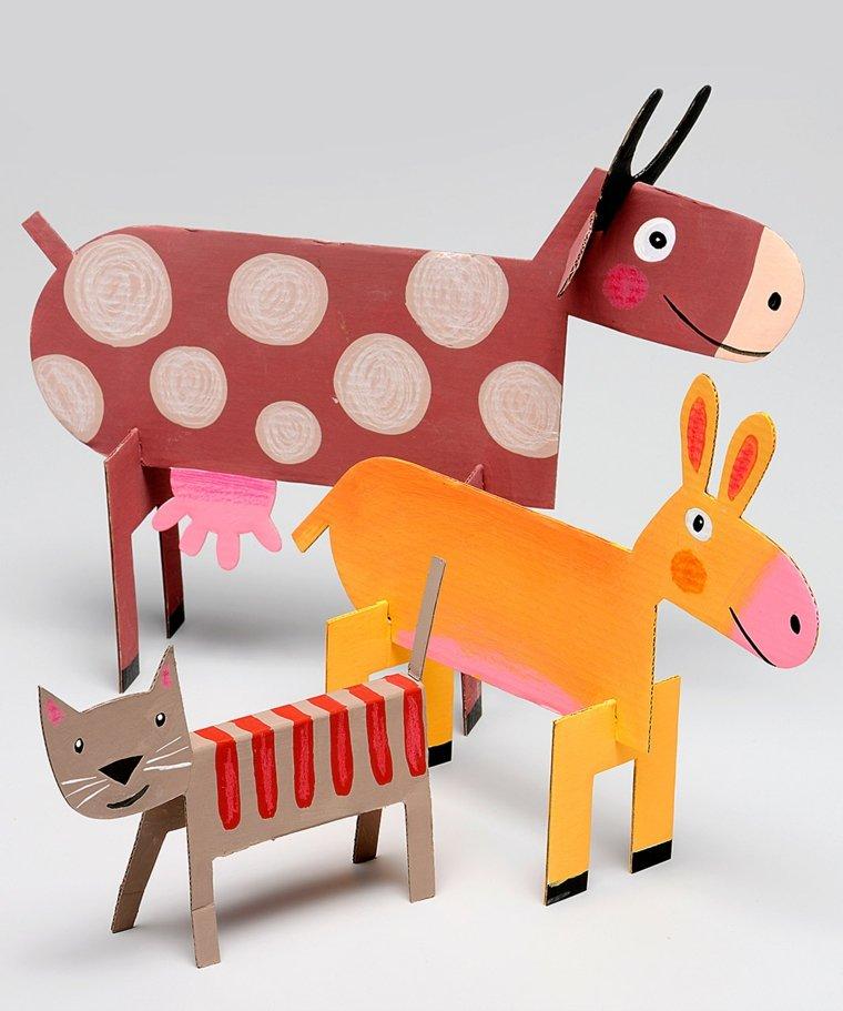 animales cartulina creativos diseños munecos