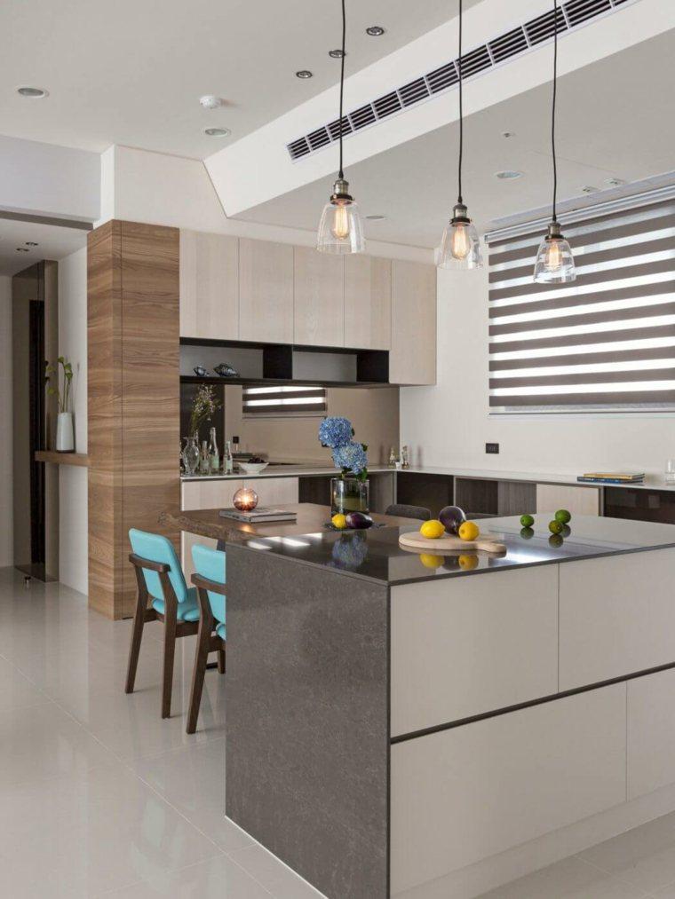 apartamento elegantes cocina diseno HOZO interior design ideas