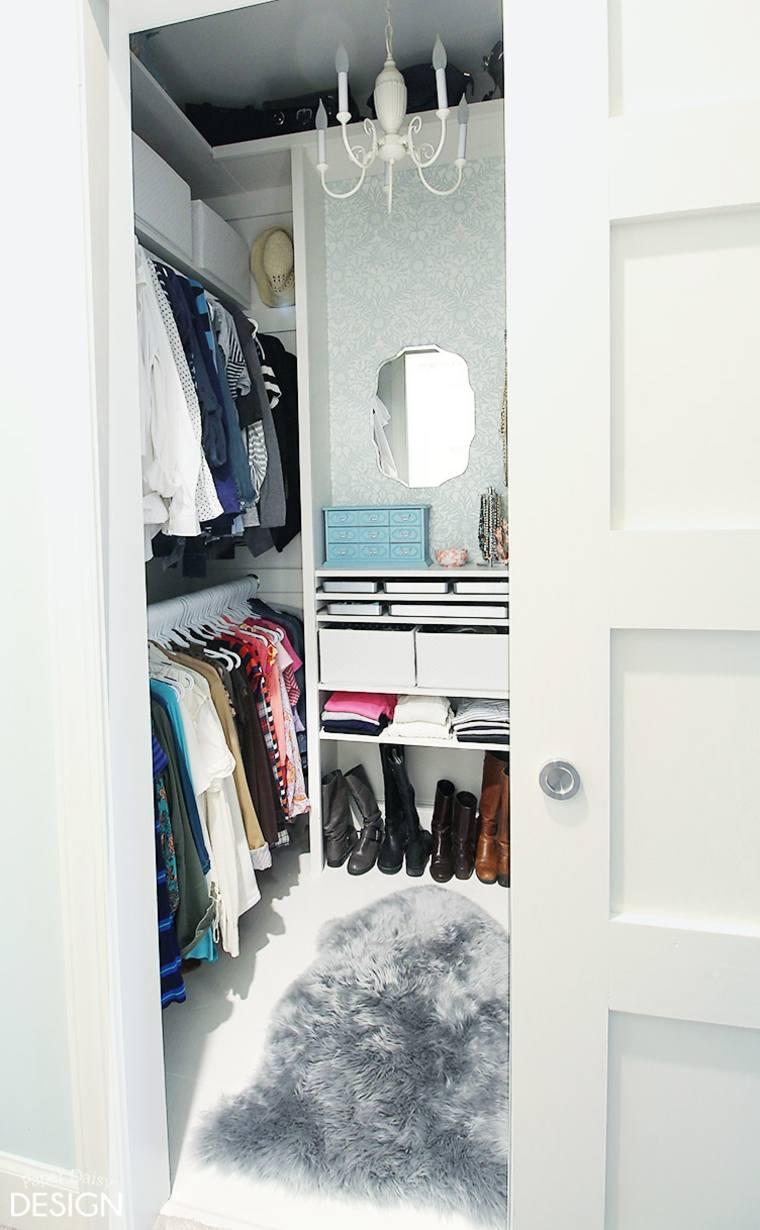 original diseño armario estrecho