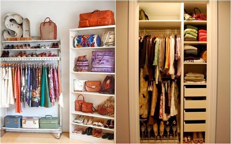 Armarios estrechos funcionales y modernos 24 dise os - Ideas para armarios empotrados ...