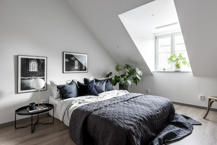 aticos diseños blanco luminosos ambientes modernos