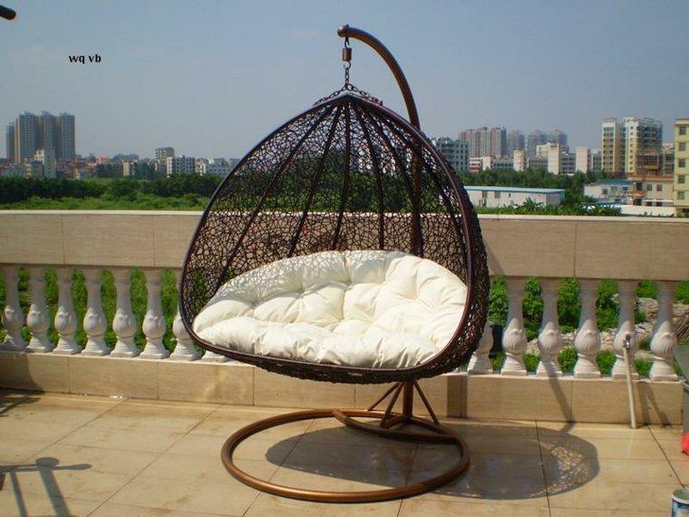 sillón colgante terraza