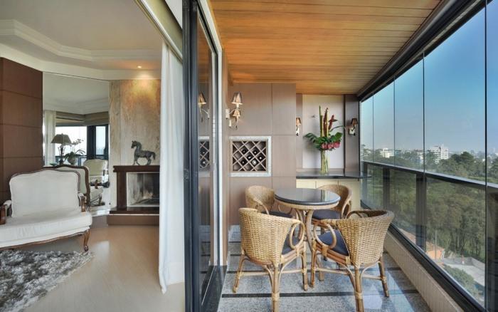 balcon diseño alfombras vistas salas
