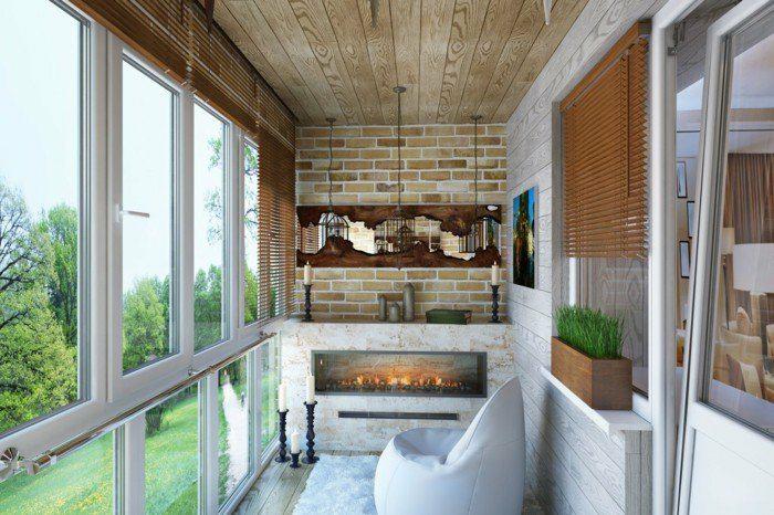 balcon diseño madera especiales asientos muebles