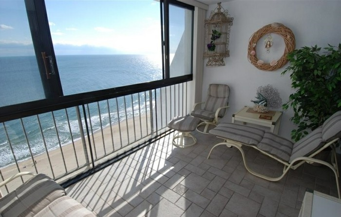 diseño saofas acentos alfombras vista oceano