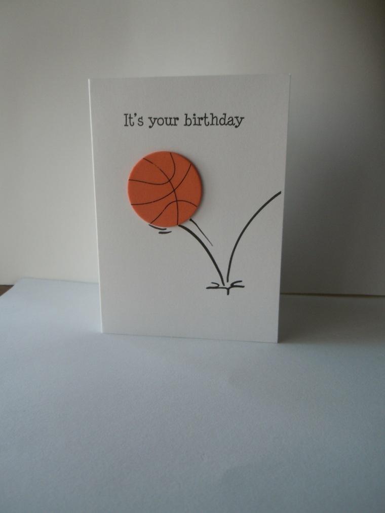 tarjeta diy balón baloncesto
