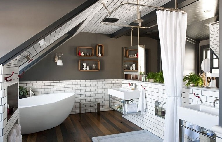 bano blanco ceramica paredes especial cortinas