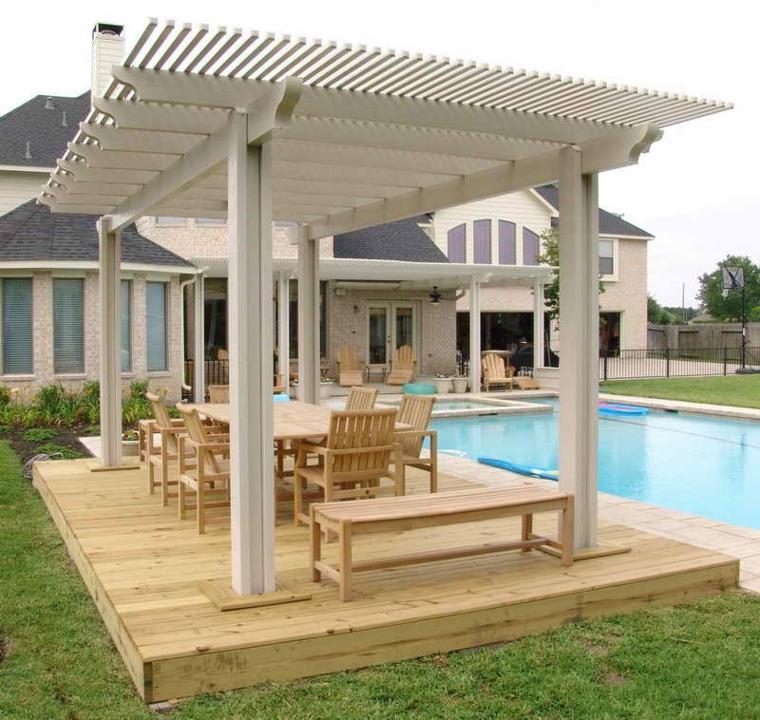 blanca creativa salones madera exteriores abierta