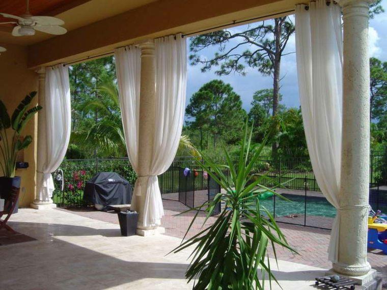porche terraza cortinas