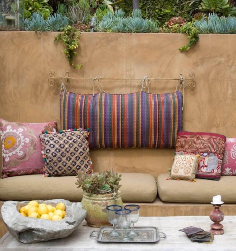 bonita decoración terraza chill